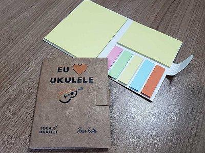 Bloquinho de Post it Eu amo ukulele