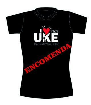 Camisa I ❤️ Ukulele [ENCOMENDA]