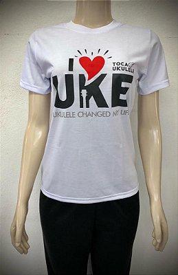 Camisa I ❤️ Ukulele (Branca)