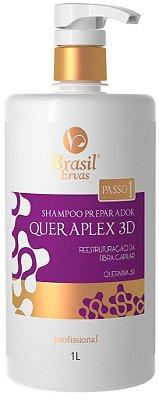 Passo 1 - Shampoo Preparador Queraplex 3D 1L