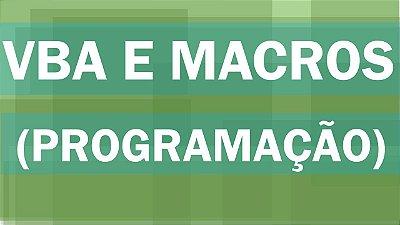 Treinamento de Excel VBA (Programação e Macros)