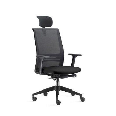 Cadeira Ergonômica Frisokar Ágile Presidente SYNCRON, Base Nylon, Rodinha Anti Risco e Pistão Classe 4