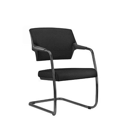"Cadeira Diálogo Frisokar Acto Comfort Fixa, Base em ""S"", Base Preta"