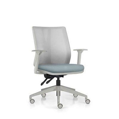 Cadeira Ergonômica Frisokar Addit Diretor CINZA, Base Nylon, Rodinha em PU Anti Risco e Pistão Classe 4