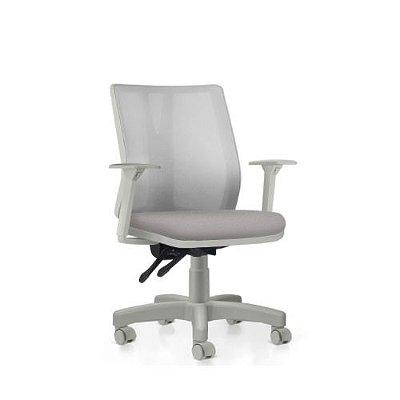 Cadeira Ergonômica Frisokar Addit Diretor CINZA, Base Metálica, Rodinha em Nylon e Pistão Classe 3