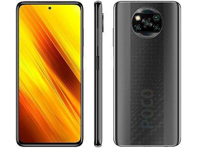 "Smartphone Xiaomi Poco X3 NFC 128GB Octa-Core - 6GB RAM Tela 6,67"" Câm. Quádrupla + Selfie 20MP"