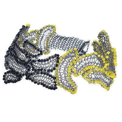 Choker Fragmentos de Crochê em Metal Artesanal Heliana Lages
