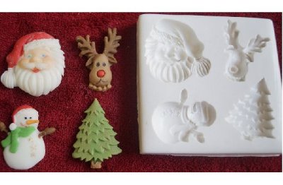 Molde de silicone Diversos Natal