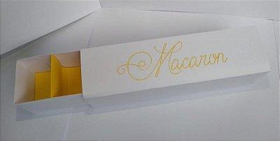 Caixa Papel para 5 Doces Macarons