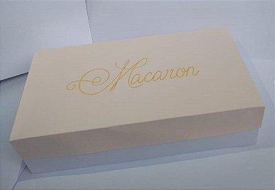 Caixa Papel para 10 Doces Macarons