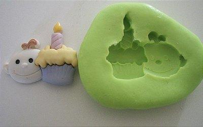 Molde de Silicone Bebê aniversário (2,5cm)