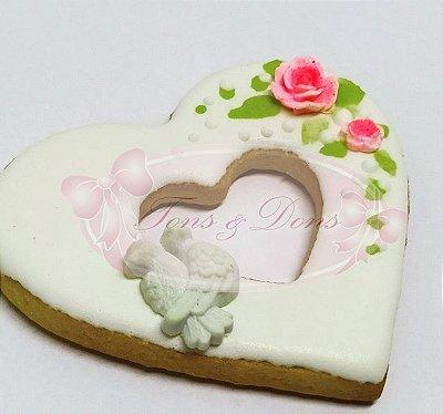 Cortadores de biscoito Coração vazado 8,5x8cm