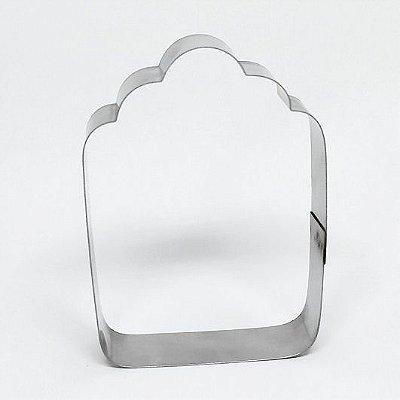 Cortador de biscoito Placa/Etiqueta 9,5x6,5cm