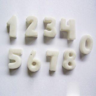 Molde de silicone Números pequenos - 1,8cm x 1cm