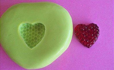 Molde de Silicone Coração P (1 cm)