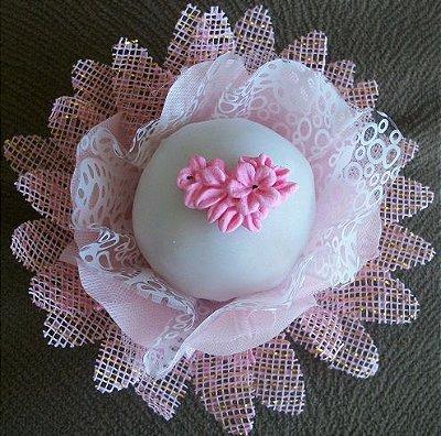 Confeito Mini flor e folha  - (2cm) (35 unidades)