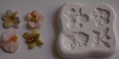 Molde de silicone Orquídea p/ docinho  (2cm)
