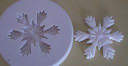 Molde de silicone Cristal de neve G   (5cm)