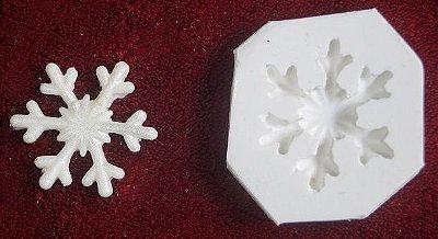 Molde de silicone Cristal de neve (3,8cm)