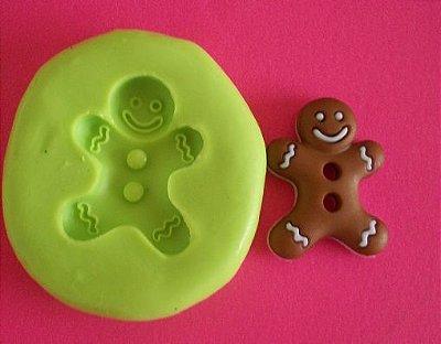 Molde de Silicone Gingerbread p/ docinho (2,2cm)