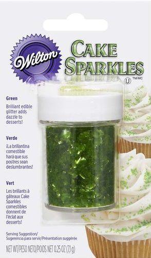 Gliter comestível 7gr - Verde - Wilton