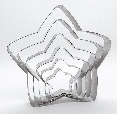 Cortadores de biscoito de Estrelas com 6 peças