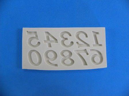 Molde de silicone Números