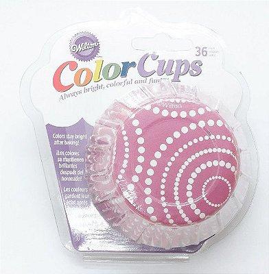 Forma cupcake Pink Dots ColorCup (36 unidades) - Wilton