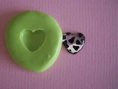 Molde de Silicone Coração P (0,9 cm)