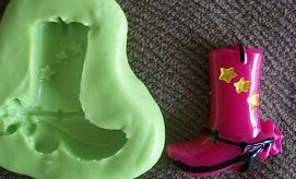 Molde de Silicone Bota Cowboy (2,5cm)