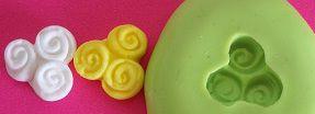 Molde de Silicone Flor (1,2cm)