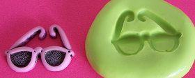 Molde de Silicone Óculos (2cm)