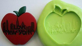 Molde de Silicone New York - Maçã  (3cm)