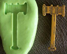 Molde de Silicone Martelo Direito (3,3cm)