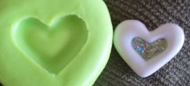 Molde de Silicone Coração vitral (2cm)