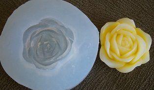 Molde silicone Incolor Rosa G (3,5cm)