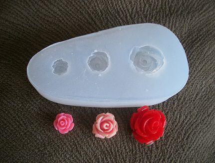 Molde silicone Incolor Mini rosa (3 tam. dif.) (1,5; 1 e 0,8cm)