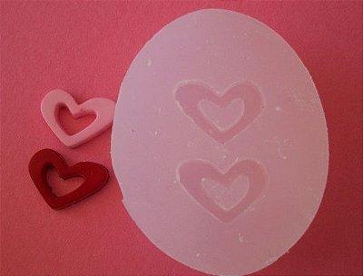 Molde de Silicone Coração vazado (1,3cm)