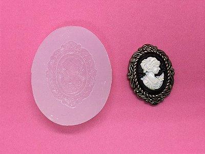 Molde de Silicone Camafeu (3cm)