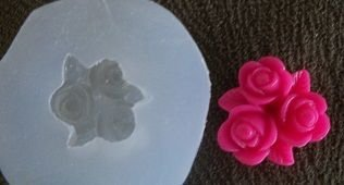 Molde silicone Incolor Flor tripla - 4870 (2,5cm)