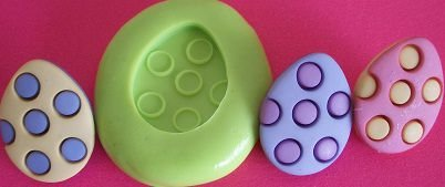 Molde de Silicone Ovos de páscoa P (1,8cm)