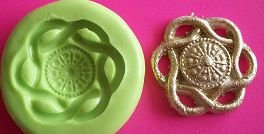 Molde de Silicone Arabesco p/ cupcake e docinhos  (3cm)