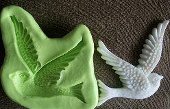 Molde de Silicone Pássaro G  (3,5cm)