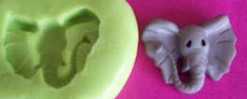 Molde de Silicone Elefante P p/ doces (1,3cm)