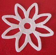 Aplique Flor de papel de arroz c/ brilho - 3772 (5,3cm)