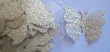 Aplique Borboleta de papel de arroz P c/ brilho - 3633 (2,2cm)