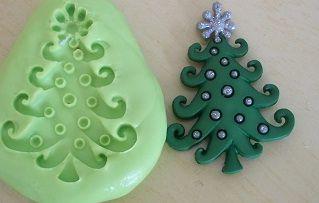 Molde de Silicone Natal - Pinheiro (3,8cm)