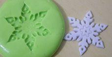 Molde de Silicone Cristal de neve M (3cm)