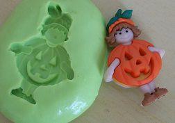 Molde de Silicone Halloween- menina (3,2cm))