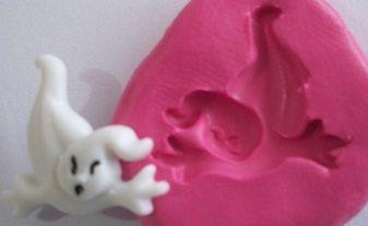 Molde de Silicone Fantasma Halloween M (2,5cm)